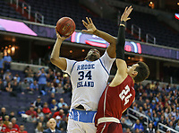 Washington, DC - March 10, 2018: Rhode Island Rams forward Andre Berry (34) in action during the Atlantic 10 semi final game between Saint Joseph's and Rhode Island at  Capital One Arena in Washington, DC.   (Photo by Elliott Brown/Media Images International)
