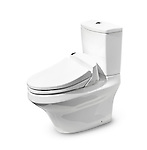 High Tech Toto toilet with Washlet seat. Isolated with clipping path.