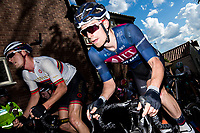 Picture by Alex Whitehead/SWpix.com - 14/05/2017 - Cycling - 2017 HSBC UK   Spring Cup Road Series - Lincoln Grand Prix - JLT Condor's Tom Moses climbs Michaelgate cobbles.