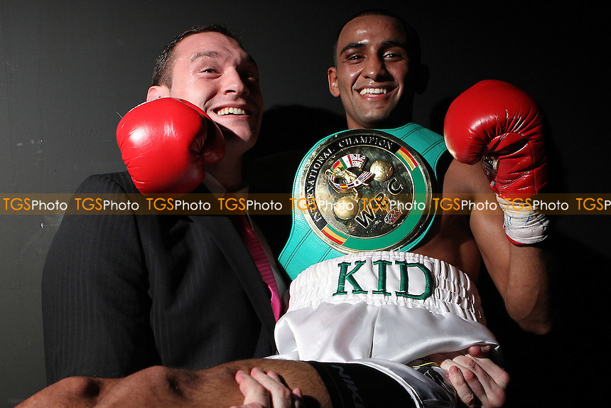 Tyson Fury and Kid Galahad  at the Magna Centre, Rotherham, promoted by Hennessy Sports - 18/02/12 - MANDATORY CREDIT: Chris Royle/TGSPHOTO - Self billing applies where appropriate - 0845 094 6026 - contact@tgsphoto.co.uk - NO UNPAID USE...