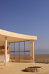Dead Sea Valley, the deserted Lido Hotel by the Dead Sea