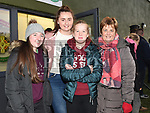 Caroline Savage, Alanah and Aoibhinn Brookes and Ann Doonan at the Anthony Doonan memorial match in Donore. Photo:Colin Bell/pressphotos.ie