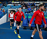 John Lundstram of Sheffield Utd walks out for warm up during the Championship match at the Hillsborough Stadium, Sheffield. Picture date 24th September 2017. Picture credit should read: Simon Bellis/Sportimage
