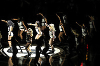 NEW YORK, EUA, 08.04.2017 - BROOKLYN NETS-CHICAGO BULLS - Líderes de torcida antes da partida entre Brooklyn Nets e Chicago Bulls no Barcleys Center em New York na noite deste sábado, 08 (Foto: William Volcov/Brazil Photo Press)