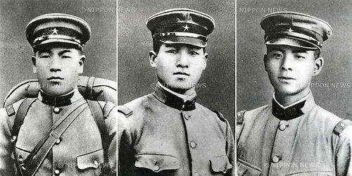Undated - Bakudan Sanyushi (also called Nikudan Sanyushi, or The Three heroic Human Bullets) were three soldiers who died while trying to blow up enemy escapement at short war between the armies of the Republic of China and the Empire of Japan in Shanghai, 1932. (Photo by Kingendai Photo Library/AFLO)