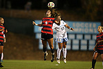 13 November 2015: Liberty's Jordan Kestel (9) and North Carolina's Alexa Newfield (88). The University of North Carolina Tar Heels hosted the Liberty University Flames at Fetzer Field in Chapel Hill, NC in a 2015 NCAA Division I Women's Soccer game. UNC won the game 3-0.