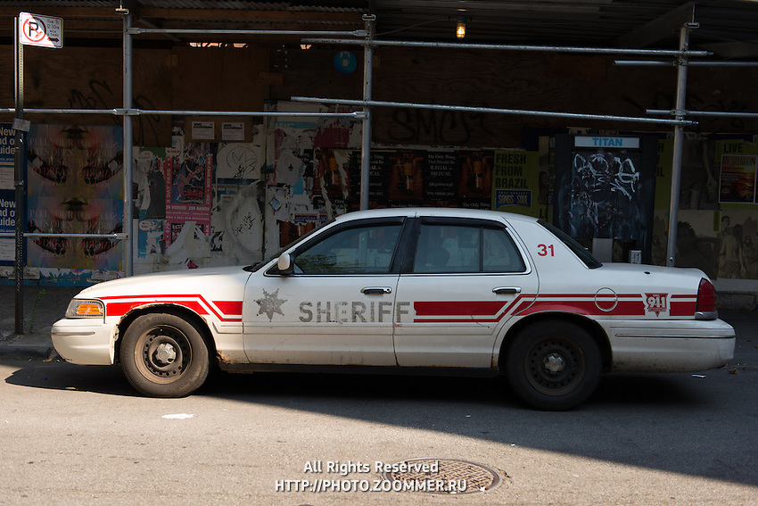 Sheriff old car on Manhattan, New York, USA
