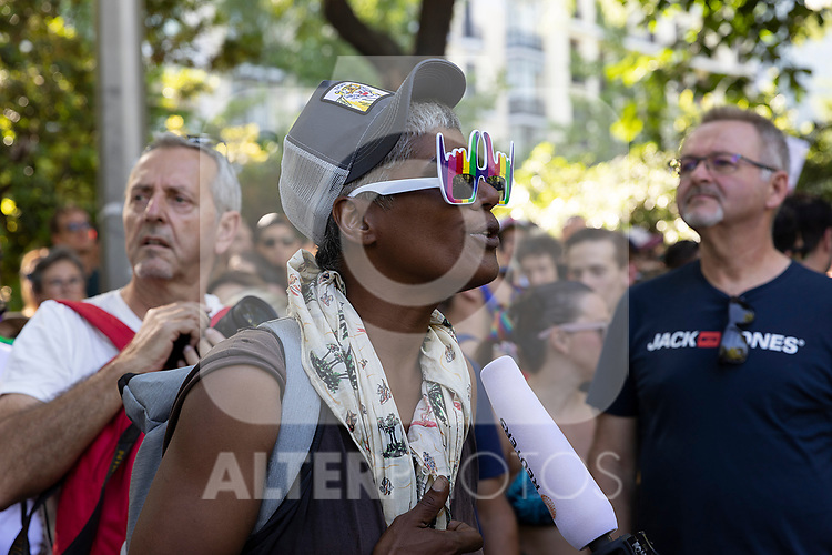 Manifestation of the lgtb pride party of Madrid. July 6, 2019. (ALTERPHOTOS/JOHANA HERNANDEZ)