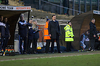 Plymouth Argyle manager Derek Adams during the Sky Bet League 2 match between Plymouth Argyle and Wycombe Wanderers at Home Park, Plymouth, England on 30 January 2016. Photo by Mark  Hawkins / PRiME Media Images.