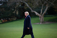 "United States President Donald J. Trump walks to board Marine One at the White House in Washington D.C., U.S., on Thursday, November 14, 2019, as he departs for a ""Keep America Great"" rally in Bossier City, Louisiana.<br /> <br /> Credit: Stefani Reynolds / CNP/AdMedia"