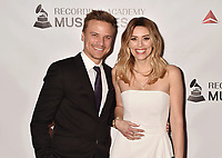 LOS ANGELES, CA - FEBRUARY 08: Matt Cutshall (L) and Arielle Vandenberg attend MusiCares Person of the Year honoring Dolly Parton at Los Angeles Convention Center on February 8, 2019 in Los Angeles, California.<br /> CAP/ROT/TM<br /> &copy;TM/ROT/Capital Pictures