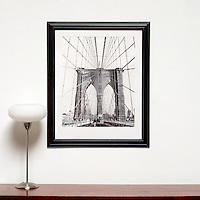 "D'Amore: Brooklyn Bridge, Digital Print, Image Dims. 24"" x 19.5"", Framed Dims. 33.5"" x 28"" , film art"