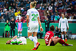 01.05.2019, RheinEnergie Stadion , Köln, GER, DFB Pokalfinale der Frauen, VfL Wolfsburg vs SC Freiburg, DFB REGULATIONS PROHIBIT ANY USE OF PHOTOGRAPHS AS IMAGE SEQUENCES AND/OR QUASI-VIDEO<br /> <br /> im Bild | picture shows:<br /> Alexandra Popp (VfL Wolfsburg #11) verletzt sich nach Zusammenstoss mit Lena Lotzen (SC Freiburg Frauen #22), <br /> <br /> Foto © nordphoto / Rauch