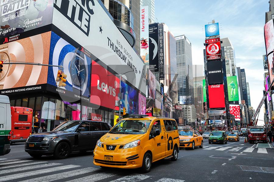 NOVA YORK, EUA, 15.01.2019 - TURISMO-EUA - Movimentação na Times Square em Nova York nos Estados Unidos nesta terça-feira, 15. (Foto: Vanessa Carvalho/Brazil Photo Press/Folhapress)
