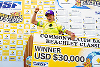 "DEE WHY, Sydney NSW/AUS (Saturday, April 21, 2012) Courtney Conlogue (USA) The Finals of the 2012 Commonwealth Bank Beachley Classic were completed today with Courtney Conlogue (USA) defeating Malia Manuel (HAW) for her first elite women's tour event win. Both finalist had never made it as far before in an ASP World Tour event. The surf was clean, with two-to-three foot (1.5 meter) waves on offer for the Top 17 female surfers in the world to battle for the richest prize purse on the ASP Womens World Championship Tour.. .Stop No. 4 of 7 on the 2012 ASP Womens World Championship Tour, the Commonwealth Bank Beachley Classic is run by seven-time ASP Womens World Champion Layne Beachley, and is in its seventh year.. .""There are a lot of sevens in my life at the moment,"" Beachley said. ""I'm so proud I've been able to run this event for seven years. I'm really appreciative of the Commonwealth Bank's support and am thrilled with the level of women's surfing. It's Finals day today. We've had a decrease in swell, but the girls are incredible at what they do and I'm sure they'll be able to put on a great show today. I'll be getting in the water later in the day for the celebrity challenge, and the Nikon Expression Session."" .Manuel defeated Stephanie Gilmore (AUS) in the quarterfinals and Conlogue defeated Sally Fitzgibbons (AUS) also in the quarterfinals. Gilmore remains number one on the world tour ratings with Fitzgibbons in second place. Photo: joliphotos.com"