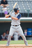 Casper Wells #22 of the Toledo Mudhens at bat against the Charlotte Knights at Knights Stadium August 8, 2010, in Fort Mill, South Carolina.  Photo by Brian Westerholt / Four Seam Images