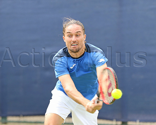 21.06.2016. Nottingham Tennis Centre, Nottingham, England. Aegon Open Mens ATP Tennis. Alexandr Dolgopolov of Ukraine defeats Kyle Edmund of Great Britain in two sets