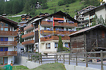 View of our room (top right) in Zermatt, Switzerland.