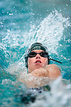 Country Club's William Koelliker competes in the 50 yard back race during the 53rd annual Country Club Swimming Championships on Tuesday, Aug. 7, 2012, in Kearns, Utah. (© 2012 Douglas C. Pizac)