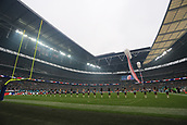 1st October 2017, Wembley Stadium, London, England; NFL International Series, Game Two; Miami Dolphins versus New Orleans Saints; Wembley Stadium observes the American national anthem