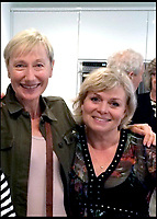 BNPS.co.uk (01202 558833)<br /> Pic:  LindyCarr/BNPS<br /> <br /> Lindy Carr, pictured on the left with actress Julie Dawn Cole, who played Veruca Salt.   Pictured last summer.<br /> <br /> One of the five golden tickets used in the film Willy Wonka & The Chocolate Factory has sold for just over £16,000.<br /> <br /> The shiny slip of foil paper was the one English brat Veruca Salt 'found' after her wealthy father got his factory work-force to open thousands of Wonka chocolate bars.<br /> <br /> After filming had finished actress Julie Dawn Cole, who played selfish Veruca in the 1971 movie, kept hold of the 5ins by 7ins golden ticket.<br />  <br /> Julie later gifted it and a fake Wonka chocolate bar to her friend Lindy Sellers.