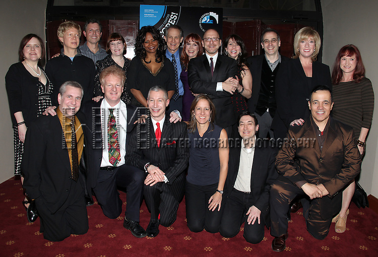 Original Broadway Cast Members.attending the Reception for 'Merrily We Roll Along' Original Broadway Cast Reunion at City Center in New York City, 2/14/2012