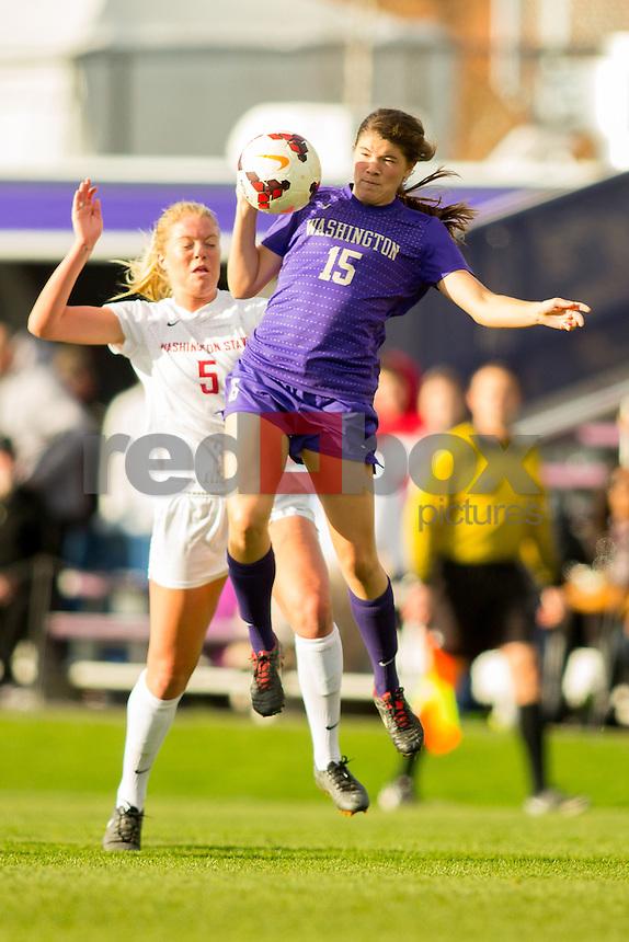 The University of Washington women's soccer team plays WSU on Senior Day on Friday November 8, 2013 (Photo by Scott Eklund/Red Box Pictures)
