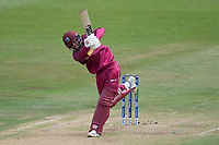 Shai Hope (West Indies) lofts Trent Boult (New Zealand) over wide long on during West Indies vs New Zealand, ICC World Cup Warm-Up Match Cricket at the Bristol County Ground on 28th May 2019