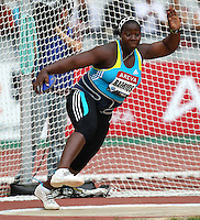 Yarelis Barrios won the discus event with a Meet Record  of 65.53m at the Samsung Diamond League. Paris,France Friday, July  16, 2010. photo by Errol Anderson.