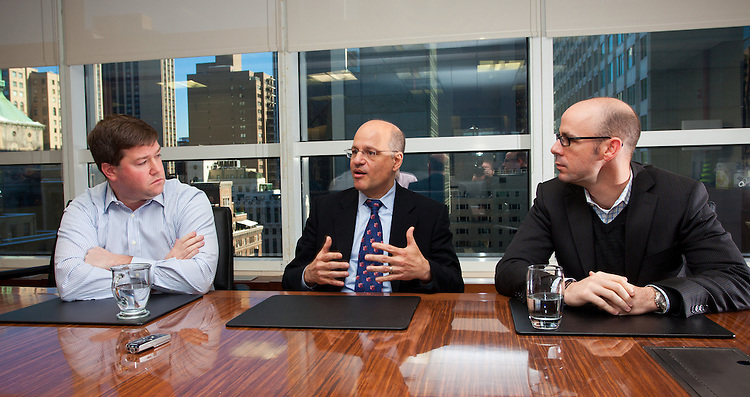 NEW YORK - JANUARY 14:  Corporate Interview for Private Equity Magazine with Monomy Capital Partners Justin Hillenbrand, Daniel Collin and Stephen Presser January 14, 2010 in New York City.  (Photo by Donald Bowers)