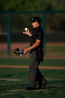 Umpire Jesse Segura during an Arizona League game between the AZL Mariners and AZL D-backs on July 3, 2019 at Salt River Fields at Talking Stick in Scottsdale, Arizona. The AZL D-backs defeated the AZL Mariners 3-1. (Zachary Lucy/Four Seam Images)