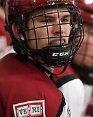 Petr Placek (Harvard - 27) - The Harvard University Crimson defeated the Colgate University Raiders 4-1 (EN) on Friday, February 15, 2013, at the Bright Hockey Center in Cambridge, Massachusetts.