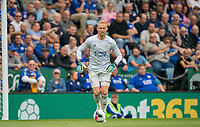 Goalkeeper Kasper Schmeichel of Leicester City during the Premier League match between Leicester City and Wolverhampton Wanderers at the King Power Stadium, Leicester, England on 10 August 2019. Photo by Andy Rowland.