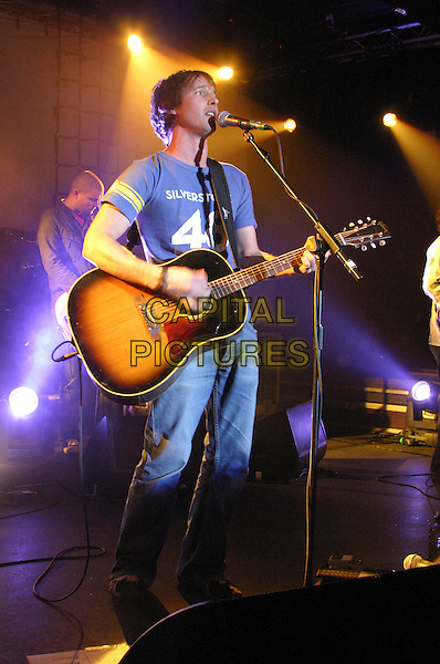 JAMES BLUNT.Performs at Rock City, Nottingham..October 4th, 2005.concert gig performance live stage full length guitar singing.www.capitalpictures.com.sales@capitalpictures.com.©Capital Pictures