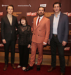 """Paul Dano, Marylouise Burke,  Ethan Hawke and Gary Wilmes attends the Broadway Opening Night After Party for the Roundabout Theatre Production of """"True West"""" at the American Airlines Theatre on January 24, 2019 in New York City."""