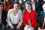 Queen Letizia of Spain (r) with Miriam Reyes Oliva winner of the '2017 Princess of Girona Foundation' Social category. March 30,2017. (ALTERPHOTOS/Acero)
