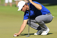 Lucas Bjerregaad (DEN) on the 10th green during Sunday's Final Round of the 2018 Turkish Airlines Open hosted by Regnum Carya Golf &amp; Spa Resort, Antalya, Turkey. 4th November 2018.<br /> Picture: Eoin Clarke | Golffile<br /> <br /> <br /> All photos usage must carry mandatory copyright credit (&copy; Golffile | Eoin Clarke)