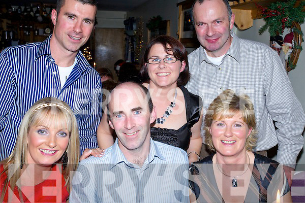 Staff of Tilewood, Listowel, enjoying their Christmas  party at Bella Bia on Saturday Night..Front fom Left: rosaleen Godley, Pat and Anne O'Donnell..Back From Left: Wille Joe Leen Aine and Liam Fitzgerald.   Copyright Kerry's Eye 2008