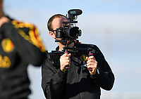 20190228 - LARNACA , CYPRUS : Belgian media officer Jonathan Vanooteghem pictured during a Matchday -1 training from The Belgian Red Flames prior to their game against the women team of Austria , on Thursday 28 February 2019 at the Alpha Sports Grounds in Larnaca , Cyprus . This will be the second game in group C for Belgium during the Cyprus Womens Cup 2019 , a prestigious women soccer tournament as a preparation on the European Championship 2021 qualification duels. PHOTO SPORTPIX.BE | DAVID CATRY