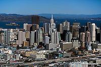 aerial photograph skyline San Francisco California