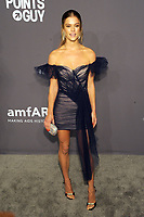 NEW YORK, NY - FEBRUARY 6: Nina Agdal arriving at the 21st annual amfAR Gala New York benefit for AIDS research during New York Fashion Week at Cipriani Wall Street in New York City on February 6, 2019. <br /> CAP/MPI/JP<br /> &copy;JP/MPI/Capital Pictures