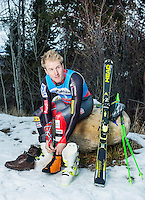 United States champion alpine ski racer Ted Ligety (cq, age 28), at Beaver Creek Ski Mountain in Beaver Creek, Colorado, Monday, December 2, 2013. Ligety was the 2006 Olympic gold medalist in the combined and a four-time World Cup champion in giant slalom. Ligety will be skiing for the United States in the upcoming Sochi Olympics in 2014.<br /> <br /> Photo by Matt Nager