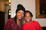 Designer Tracy Reese and Actress and singer Rhonda Ross (Another World) sing Christmas Carols - Hearts of Gold links to a better life celebrates Christmas with a party #2 for mothers and their children on December 17, 2016 in New York City, New York with arts and crafts, a great turkey dinner with all the goodies and then the children met Santa Claus and had a photo with him as he gave them gifts. (Photo by Sue Coflin/Max Photos)