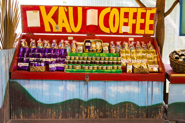 Ailani Orchards, a road side coffee stand in the Ka'u district of the Big Island of Hawaii