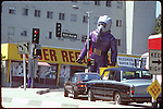 Tower Records on the Sunset Strip with inflatable advertising figure 1984