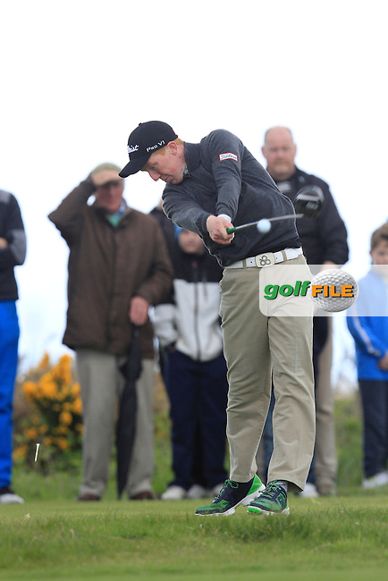 Gavin Moynihan (The Island) on the 15th tee during Round 4 of the Irish Amateur Open Championship at Royal Dublin on Saturday 10th May 2015.<br /> Picture:  Thos Caffrey / www.golffile.ie