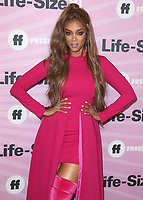 """HOLLYWOOD - NOVEMBER 27:  Tyra Banks at the """"Life Size 2"""" World Premiere on November 27, 2018 at the Hollywood Roosevelt Hotel in Hollywood, California. (Photo by Scott Kirkland/PictureGroup)"""
