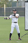 Ichiro Suzuki (Marlins),<br /> FEBRUARY 25, 2014 - MLB :<br /> Ichiro Suzuki of the Miami Marlins poses during the Miami Marlins spring training camp in Jupiter, Florida, United States. (Photo by AFLO)