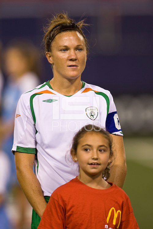 Republic of Ireland (IRL) forward Michele O'Brien (10). The women's national team of the United States (USA) defeated the Republic of Ireland (IRL) during an international friendly at Giants Stadium in East Rutherford, NJ on September 17, 2008. Photo by Howard C. Smith/isiphotos.com