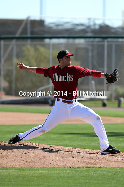 Alex Sanabia of the Arizona Diamondbacks participates in spring training workouts at Salt River Fields on February 12, 2014 in Scottsdale, Arizona (Bill Mitchell)